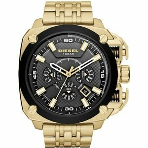 New Diesel ovetsized case black and gold watch